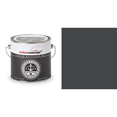 2,5 Liter Colourcourage Premium Wandfarbe Black Board Schwarz Grau | L709449605 | geruchslos | tropf- und spritzgehemmt