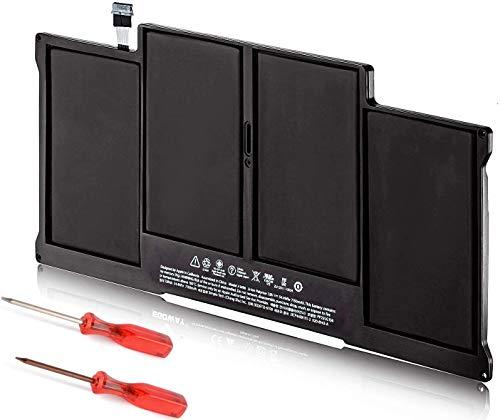 A1466 A1405 A1496 - Batería de Repuesto para MacBook Air 13 Pulgadas A1377 A1369 (Finales de 2010 Mediados de 2011) A1466 (Mediados de 2012 2013 principios de 2014) 661-5731 MC503 MC504