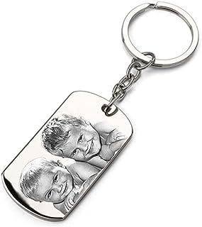 Porte-clés Plaque en métal personnalisé avec Une Photo