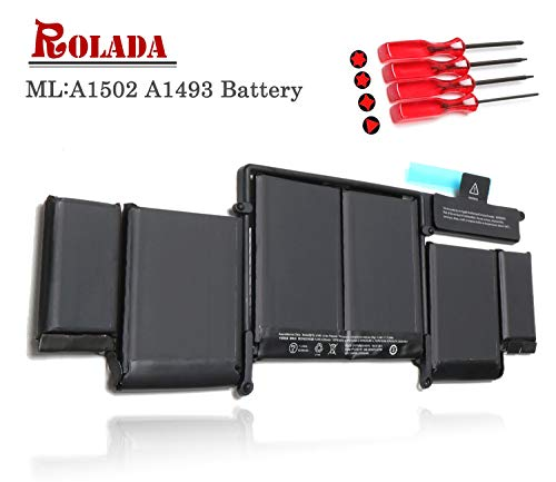 A1493 New Laptop Battery for Apple A1502 ME864LL/A ME866LL/A; MacBook Pro 13' Retina Battery-Only for Late 2013, Mid 2014 Version [Li-Polymer 11.34V 71.8Wh]