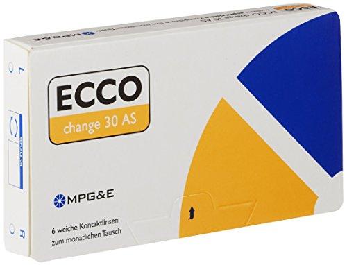 ECCO change 30 AS Monatslinsen weich, 6 Stück/BC 8.70 mm/DIA 14.40 mm / -6.25 Dioptrien