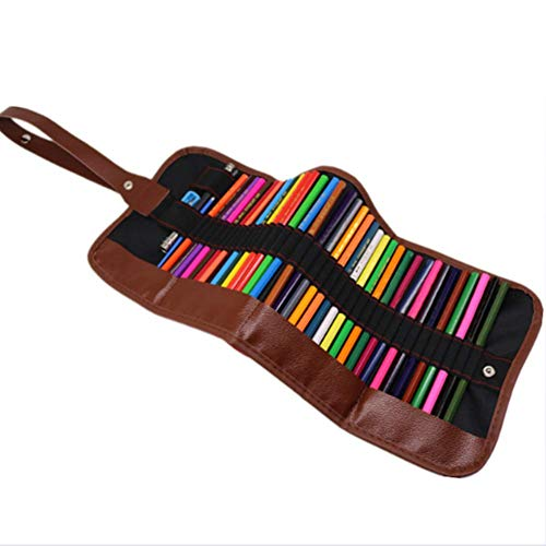 Juego de lápices de colores, 48 juegos de pintura, juego de lápices de acuarela con ranura portátil, sacapuntas, mezcla de colores, dibujo, bocetos