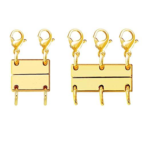 Gergxi Práctico cierre magnético de joyería para collares y cierres de collar, convertidores magnéticos para hacer pulseras, collares, plata