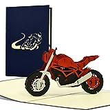Geburtstagskarte Motorrad | 3D Pop-up I Geschenkidee für Biker | Glückwunschkarte oder Gutschein für Motorrad-Führerschein, Enduro, Dirtbike, T21