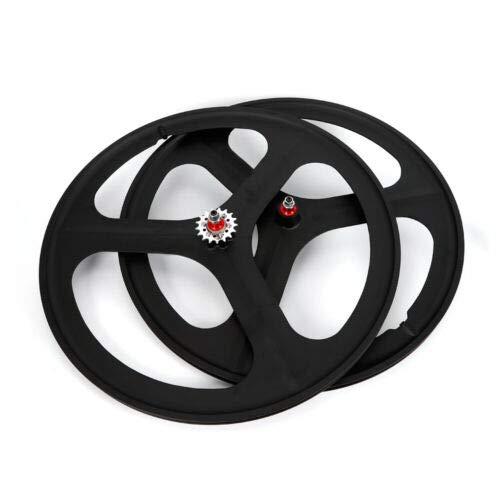 DNYSYSJ Bike Wheel 700c Bike Track Front & Rear Set Fixed Gear 3-Spoke Single Speed