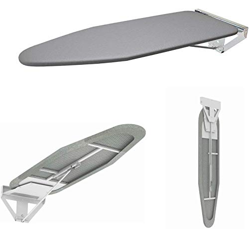 powerful The compact wall ironing board wall mount plate slides with a heat resistant cover …