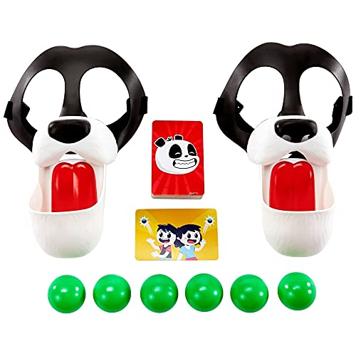 Mattel Games Please Feed The Pandas Kids Game with Panda Masks, for 7 Year Olds and Up