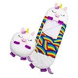 Happy Kids Nappers Play Pillow, Fun Sleeping Bag Plegable Soft Kids Animal Sleeping Bag Baby Winter Swaddle Manta para Acampar De Dormir Divertido Y Almohada Cómodo Cojín Suave para Niños (Blanco)