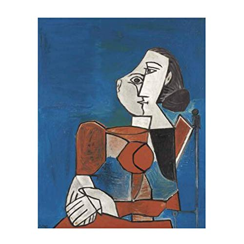 Picasso decoración del hogar pesadilla abstracta antes de Navidad cuadros de pared para sala de estar arte de pared lienzo póster-24x32 pulgadas sin marco