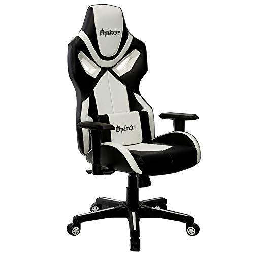 Desk Chairs-T Silla de Juego con reposabrazos elevable y Soporte Lumbar,Reclinable Silla de Carreras,Silla Gaming Giratoria,E-Sports sillas de Juego para Jugador