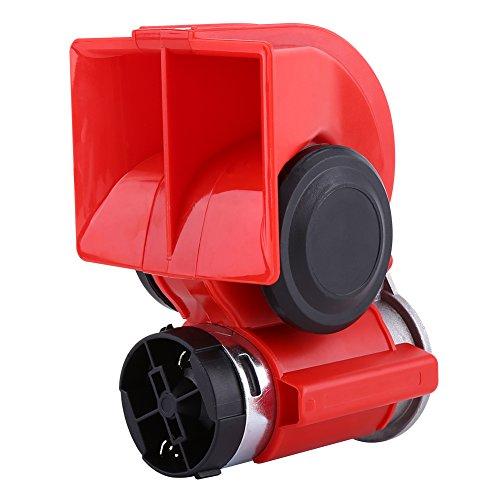 Bocina Bocina de aire Bocina de caracol de 12 V, sonora universal Bocina para automóviles, motocicletas, barco, bocina de aire súper ruidosa, sirena eléctrica de caracol, 130db