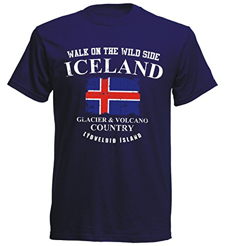 aprom T-Shirt Island Navy ISL 10 - Glacier & Volcano (L)