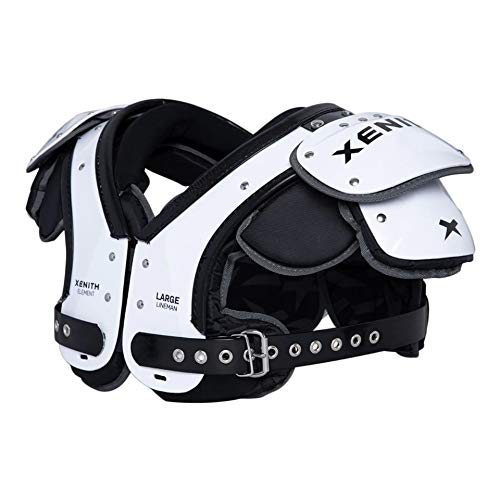 Xenith Element Lineman Varsity Football Shoulder Pads for Adults - All Purpose Protective Gear (X-Large)