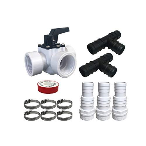 well2wellness® Hochwertiges PVC Bypass Set 13-teilig für Pool Solarheizung, Poolheizung und Wärmepumpe