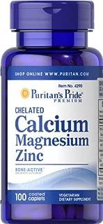 Puritan's Pride Chelated Calcium Magnesium Zinc-100 Caplets