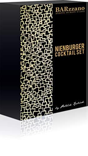 Nienburger Cocktail Set – Das ideale Cocktail Set fürZuhause, 2 Rezepte - 4 Drinks, inklusive Gläser, Glastrinkhalme, Flaschenöffner
