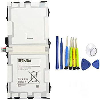 EFOHANA EB-BT800FBE Tablet Battery Replacement for Samsung Galaxy TAB S 10.5 LTE SM-T800 SM-T801 SM-T805 SM-T807 SM-T807A SM-T807P Series Notebook EB-BT800FBC EB-BT800FBU with Tool 3.8V 30.02Wh