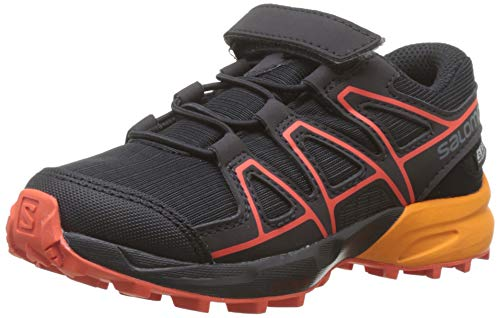Salomon Kinder Trail Running Schuhe, SPEEDCROSS CSWP K, Farbe: schwarz/orange (Black/Tangelo/Cherry Tomato), Größe: EU 26
