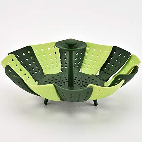 ZSJZHB Foldable Lotus Steamer, Plastic Folding Fruit And Vegetable Drain Basket, Retractable Steamer Basket Kitchen Rack, For Steamed Food And Vegetable Folding