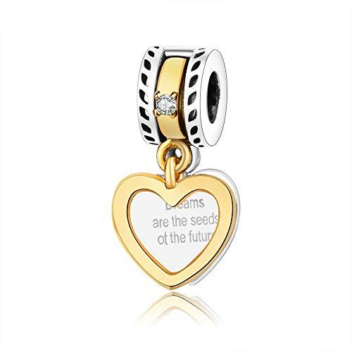 Pandora 925 Sterling Silver DIY Jewelry Charmtrinket abalorios los sueños son las semillas del futuro regalo de joyería colgante