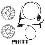 MAGT Freno de Disco para Bicicleta, Kit de Freno de Disco hidráulico Delantero y Trasero para Bicicleta Universal Accesorios de frenado de Bicicleta para Bicicleta de Carretera de montaña