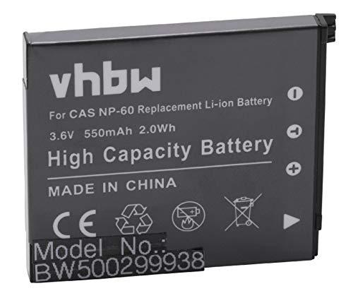 vhbw Akku passend für Casio Exilim EX-Z80, EX-Z9, EX-Z90 Kamera Digicam DSLR (550mAh, 3.6V, Li-Ion)