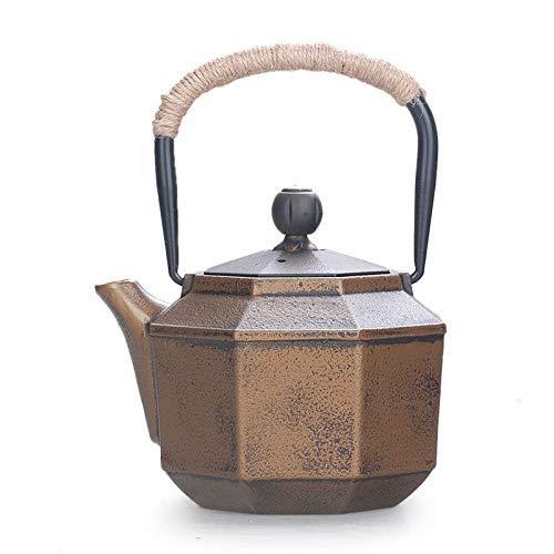 JHGF Bule de Ferro Fundido, Mini Bule doméstico Elegante, Conjunto de chá com infusor de aço inoxidável