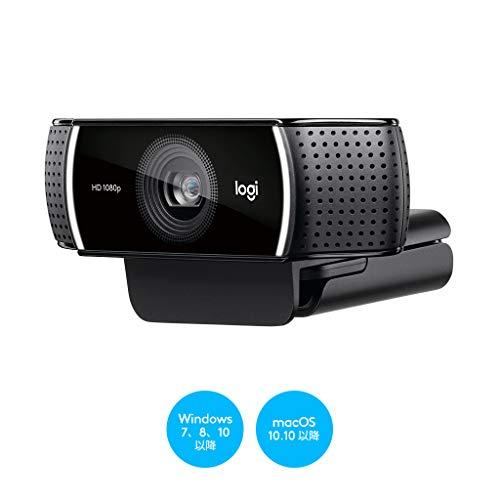 ロジクールウェブカメラC922nブラックフルHD1080Pウェブカムストリーミング自動フォーカスステレオマイク撮影用三脚付属国内正規品2年間メーカー保証