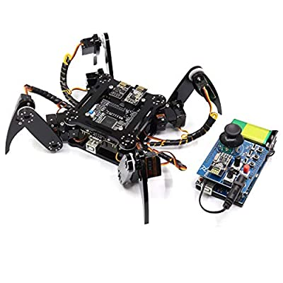 Freenove Quadruped Robot Kit with Remote Control, Compatible with Arduino Raspberry Pi Processing, Spider Walking Crawling STEAM STEM Project
