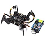 Freenove Quadruped Robot Kit with Remote Control, Compatible with Arduino IDE Raspberry Pi Processing, Spider Walking Crawling Steam Stem Project
