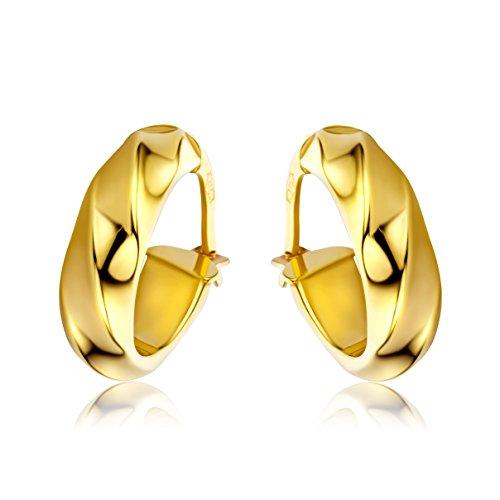 Miore Ohrringe Damen Gelbgold 9 Karat / 375 Gold Creolen