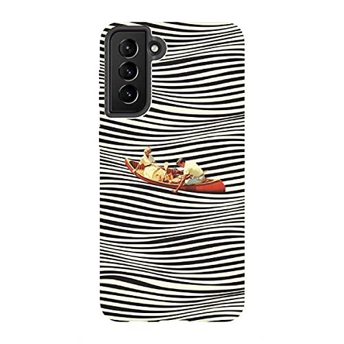 artboxONE Tough-Case Handyhülle für Samsung Galaxy S21 Plus Illusionary Boat Ride von Taudalpoi