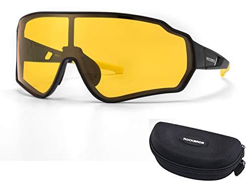 ROCKBROS Fahrradbrille Polarisierte Radbrille HD Bunte Sonnenbrille Winddicht Brille mit UV400-Schutz für Radfahren Laufen Angeln Golf Wandern