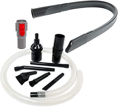 SPARES2GO Kit de limpieza de escritorio de micro PC + herramienta flexible para grietas compatibles con Dyson V15 SV22 aspiradora inalámbrica