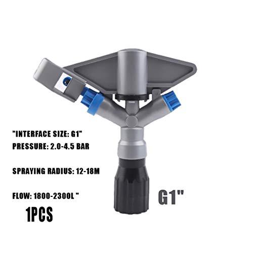 """Arroseurs G1"""" 360 ° Vitesse d'entraînement degrés de rotation Jet d'eau Buse d'arrosage goutteur d'arrosage usine de jardin pelouse Outils d'irrigation Black"""