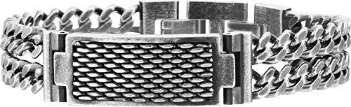 Pulsera de acero antiguo policía hombre Reflector S14AFM01B