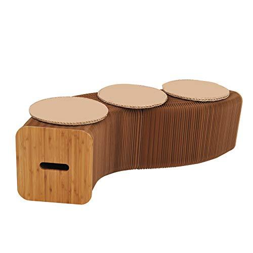 NBCDY Klappbarer Papierhocker, schönes und praktisches modernes Design, platzsparend, handgefertigter Kraftpapiersofastuhl, entspannender Fuß, für Wohn- und Esszimmer
