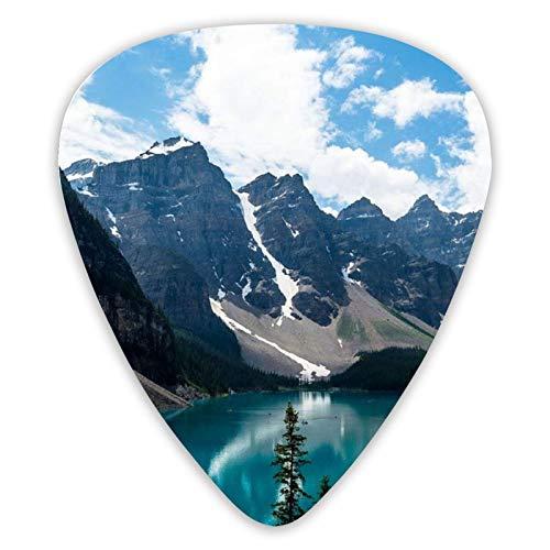 Púas de guitarra paisaje océano mar púas de ukelele 12 piezas, incluidas 0,46 mm, 0,71 mm, 0,96 mm de guitarra acústica