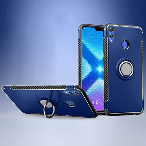 Labanema Honor 8X /Honor View 10 Lite Hülle, Ring Kickstand 360 Grad rotierenden Fingerring Grip Drop Schutz Stoßdämpfung Weichen TPU Cover für Huawei Honor 8X /Honor View 10 Lite - Blau