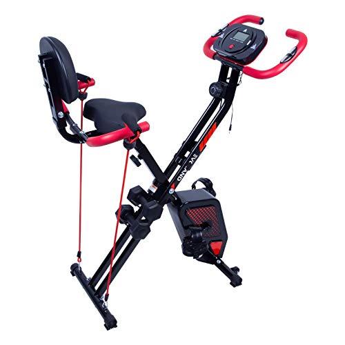 EVOLAND Bicicleta estática plegable, para Entrenamiento en casa, de Fitness, S-Bike, para Entrenamiento aeróbico, Fitness y X-Bike, 100 kg de Capacidad (X-Design)