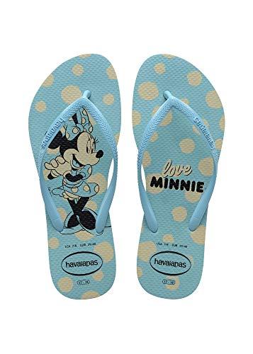 Havaianas Slim Disney, Chanclas Mujer, Azul, 39/40 EU
