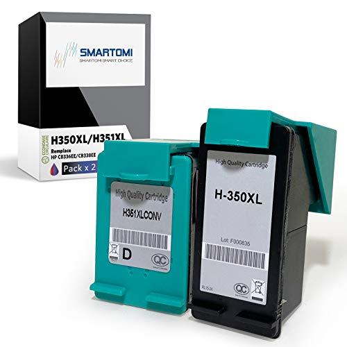 SMARTOMI Remanufacturado 350XL 351XL Compatibles con HP 350 351 XL para DeskJet D4280 D4270 PhotoSmart C4280 C4270 C4340 C4205 C4380 C5280 D5360 C4480 C4580 C4599 OfficeJet J6410 J5780 J5730