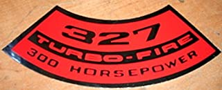 CHEVROLET 327 TURBO-FIRE 300 HORSEPOWER AIR CLEANER TOP LID DECAL STICKER NEW