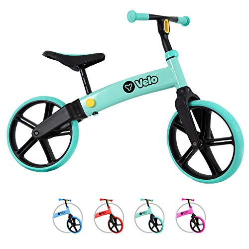 Yvolution Y Velo Senior Balance Bike for Kids | No Pedals Training Bicycle Ages 3 to 5 Years Old (Teal)