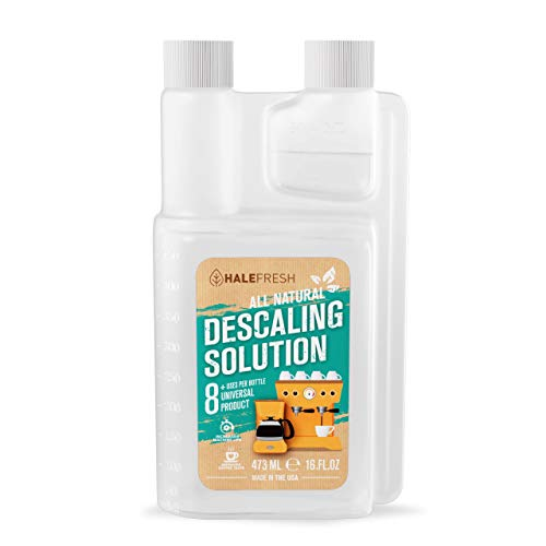 Descaling Solution Coffee Maker Cleaner - Simple All Natural 8 Uses Per Bottle - Universal for Keurig, Ninja, Nespresso, Gagia, Mr Coffee, and Drip, Coffee and Espresso Machines