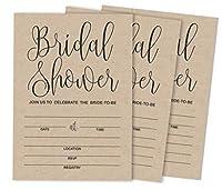 Inkdotpot 30Kraft RusticFill-In Style Bridal Shower Invitations Wedding Blank Invites