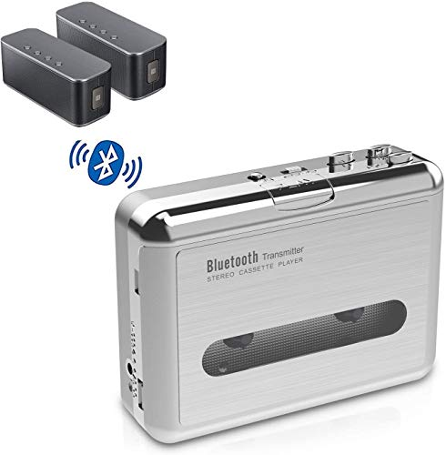 DIGITNOW Walkman Cassette Player Bluetooth Transfer Personal Cassette, 3.5mm Headphone Jack and Earphones Included