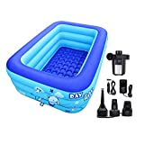 ECOiNVA Inflatable Swimming Pool Bathtubs Hot Tubs with Electric Air Pump (120cm)