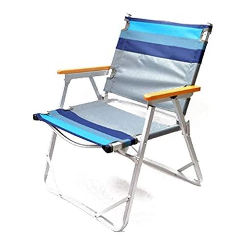 ZLQBHJ Silla de camping portátil, silla plegable de aluminio ultraligero acolchado al...