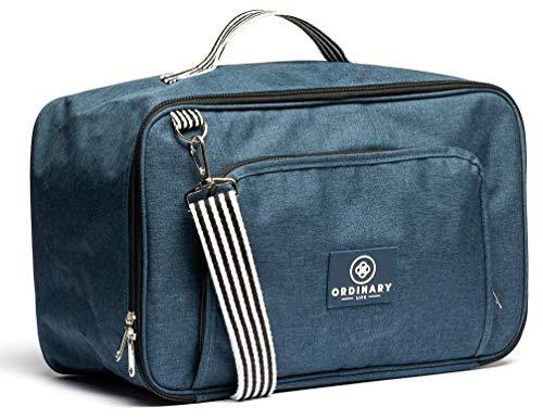 Ordinary Life - Ryanair Hand Luggage 40x20x25 20L Navy Blue Multifunction Bag Backpack Shoulder Bag Gym Swimming Pool